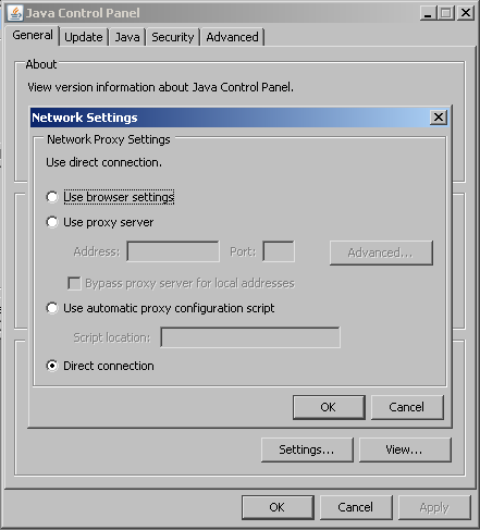 Java Network Settings